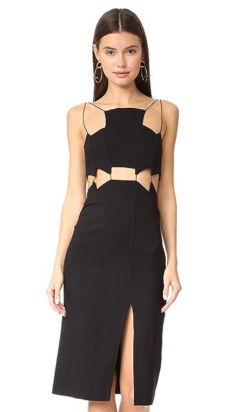 Bec & Bridge Coco Jazz Bib Dress In Black