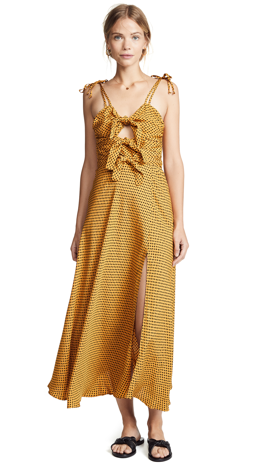 Bec & Bridge Sun Valley Midi Dress - Spot Print