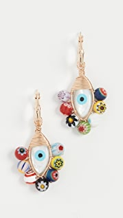 Beck Jewels Millefiori Evil Eye Hoops