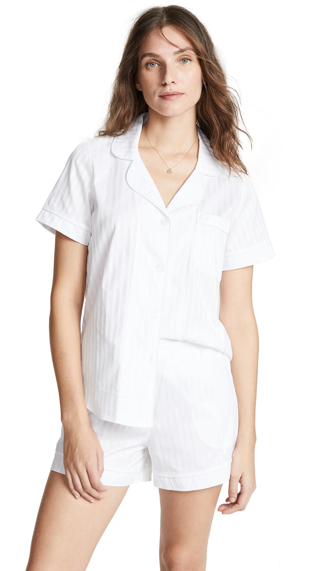 BedHead Pajamas Classic Stripe Pajama Set - White Stripe