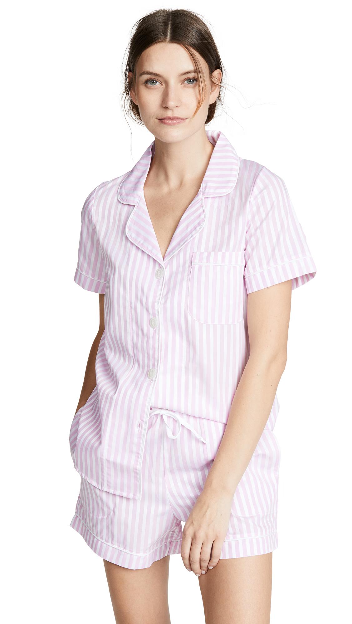 BedHead Pajamas Classic Stripe Pajama Set - Pink Stripe