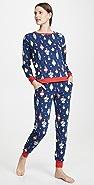 BedHead Pajamas x Peanuts® 史努比装饰圆领上衣和慢跑长裤套装