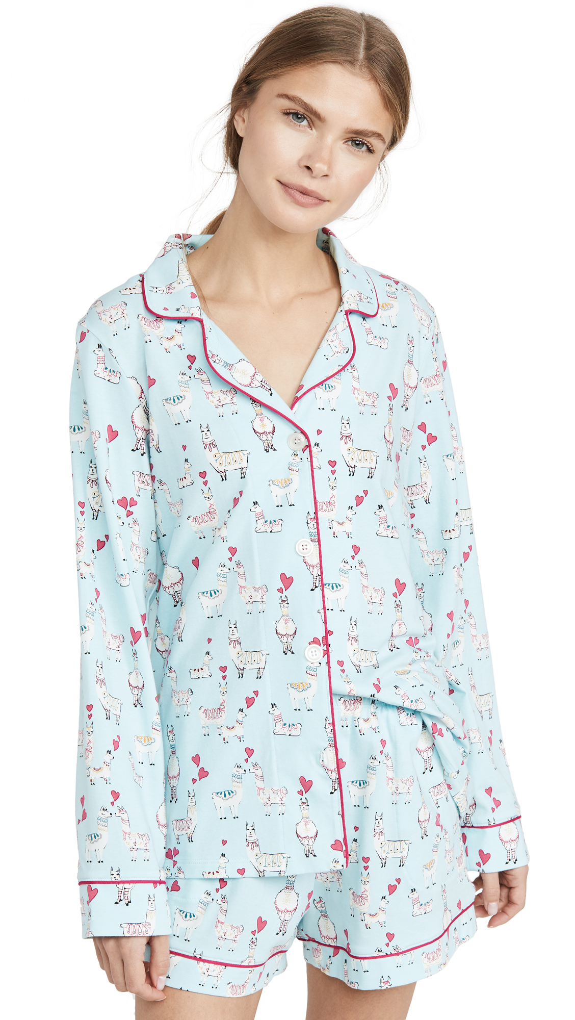 Buy BedHead Pajamas online - photo of BedHead Pajamas Llama Love Shorty PJ Set