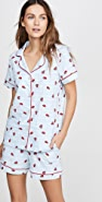 BedHead Pajamas Walk The Line Shorty PJ Set