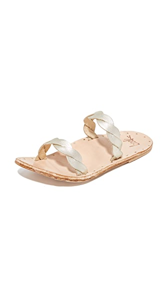 beek Pipit Slides - Platinum/Natural