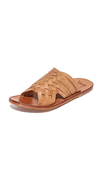beek Swallow Slides - Tan/Tan