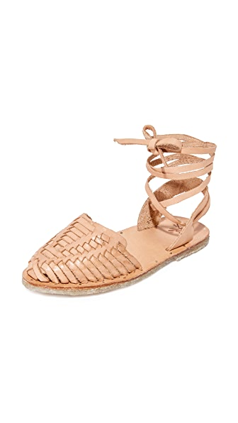 beek Parakeet Wrap Sandals - Natural/Natural