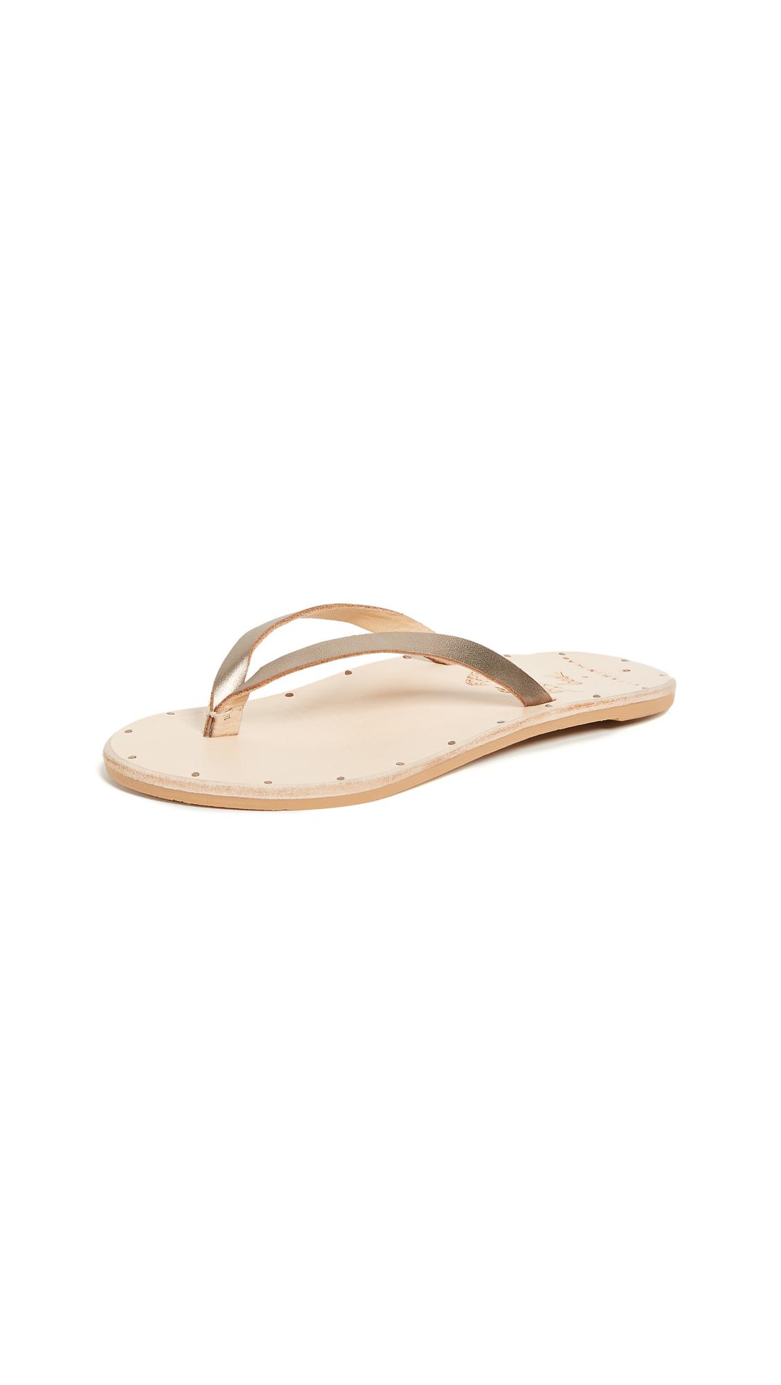 beek Seabird Thong Sandal - Bronze/Natural