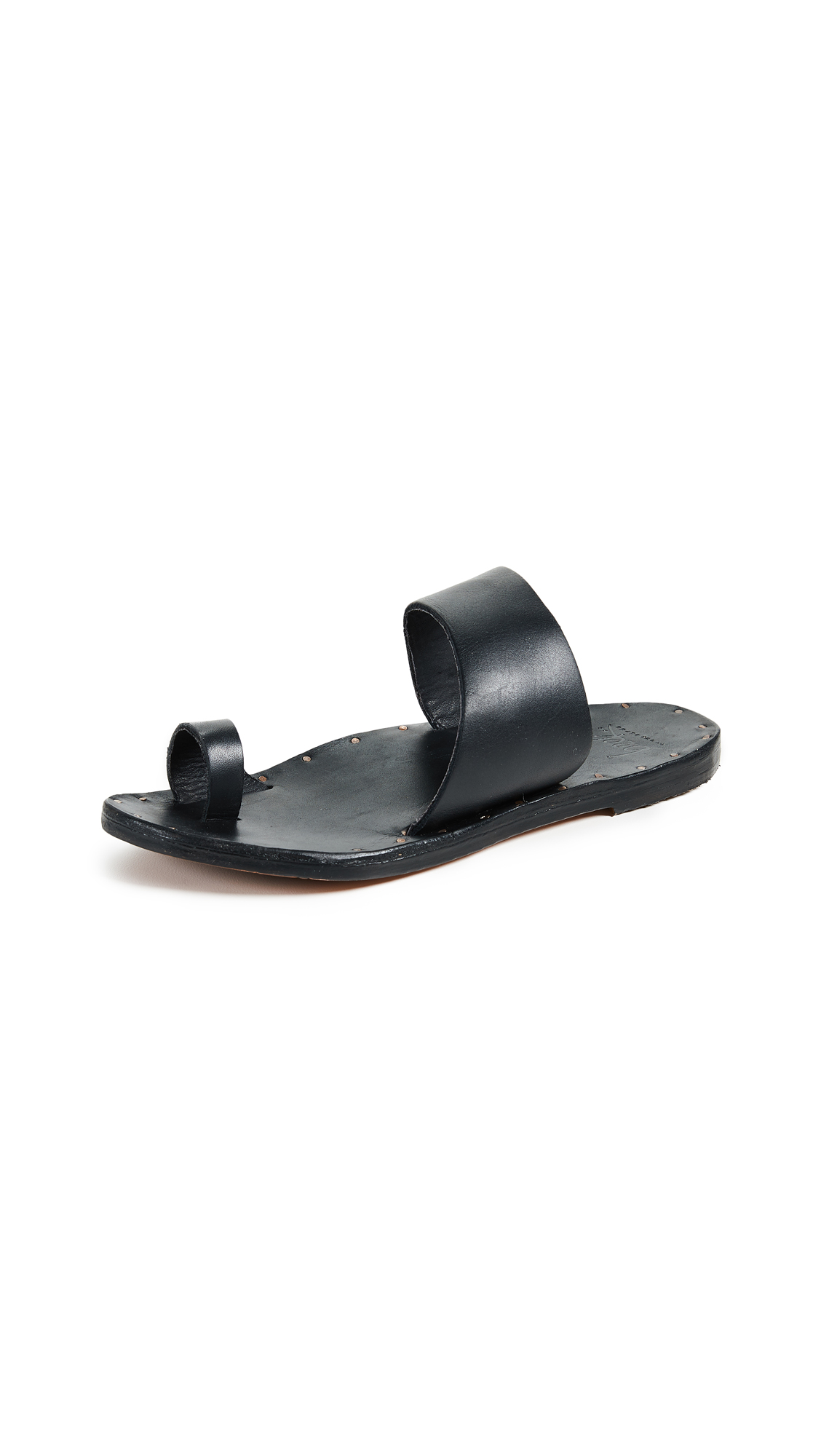 beek Finch Toe Ring Slides - Black/Black