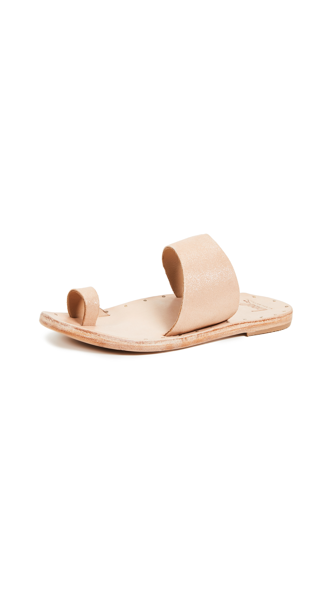 beek Finch Toe Ring Slides - Apricot/Natural