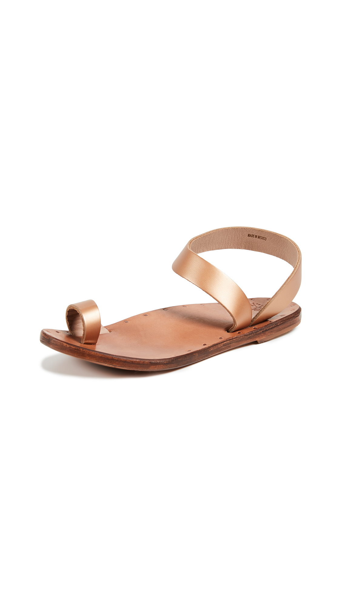 beek Oriole Sandals - Rose Gold/Tan