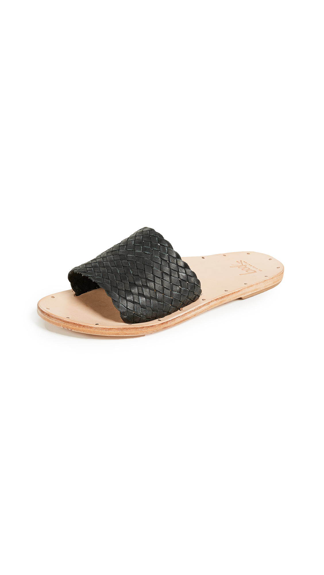 beek Osprey Slide Sandals - Black/Nat