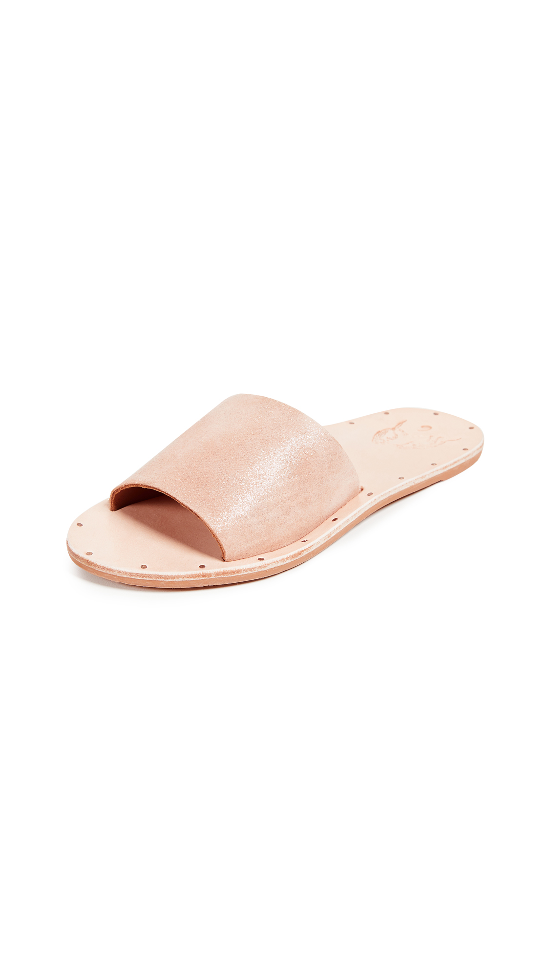 beek Mocking Bird Slides - Apricot Metallic/Nat