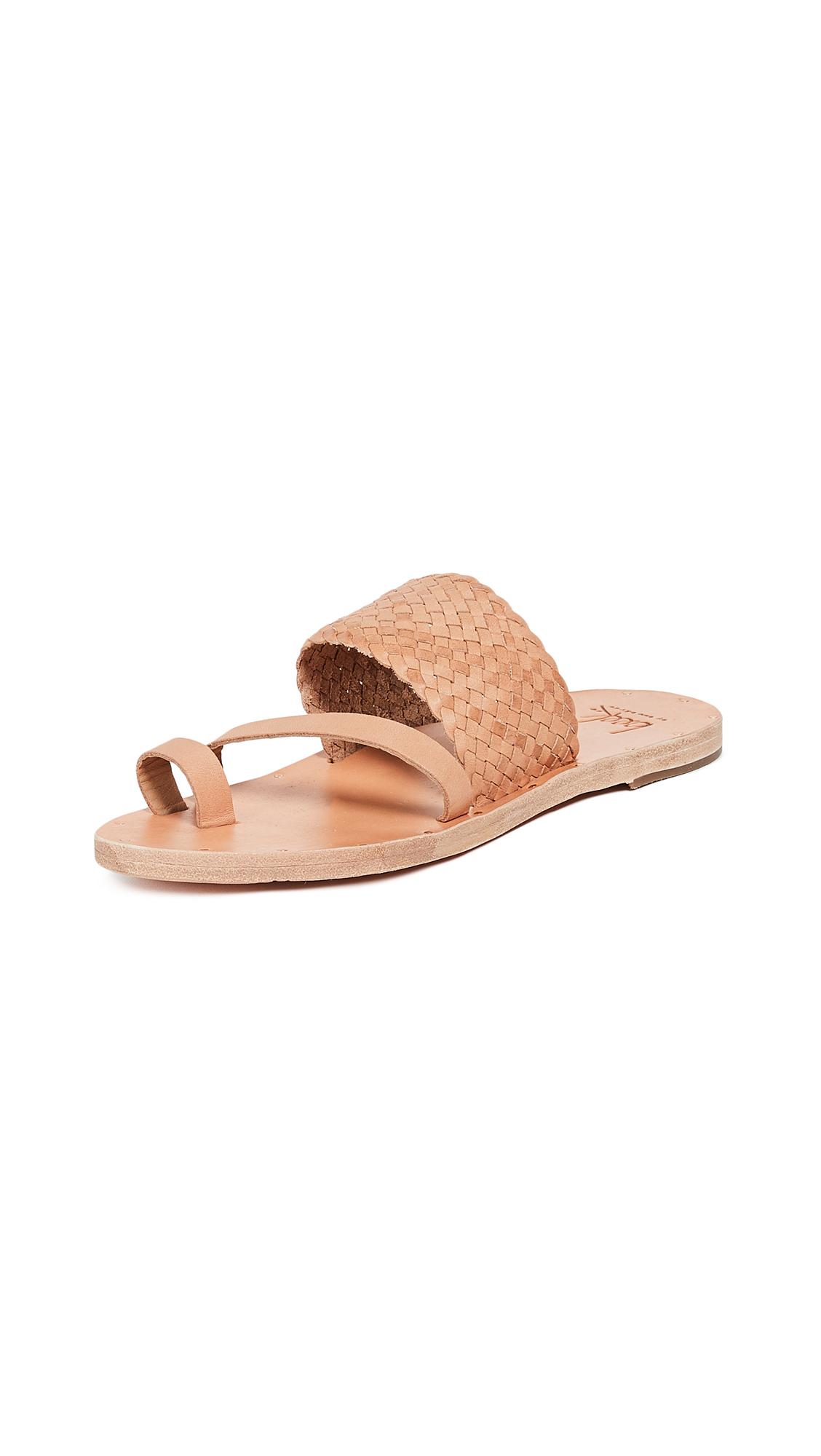 beek Cockatiel Toe Ring Sandals - Natural/Natural