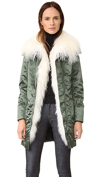 Belstaff Thwaite Gilet Coat - Military Green