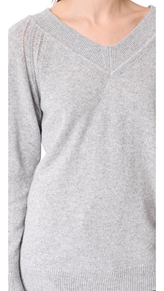 BELSTAFF Skylar Luxury Cashmere Sweater in Pale Grey