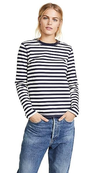 Belstaff Christina Maritime Shirt In Natural/True Blue