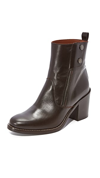 Belstaff Dursley Booties - Chocolate Brown