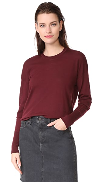 Belstaff Sarah Superfine Merino Wool Sweater - Burgundy