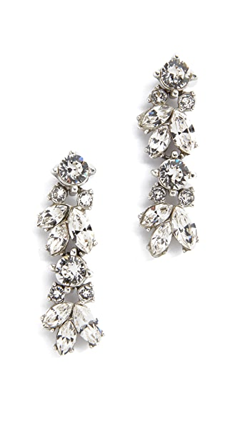 Ben-Amun Crystal Drop Earrings - Clear/Silver
