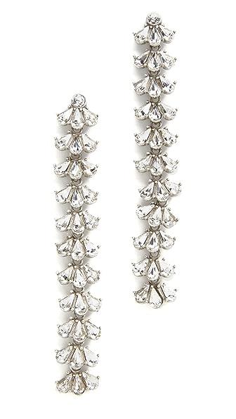 Ben-Amun Crystal Cluster Duster Earrings