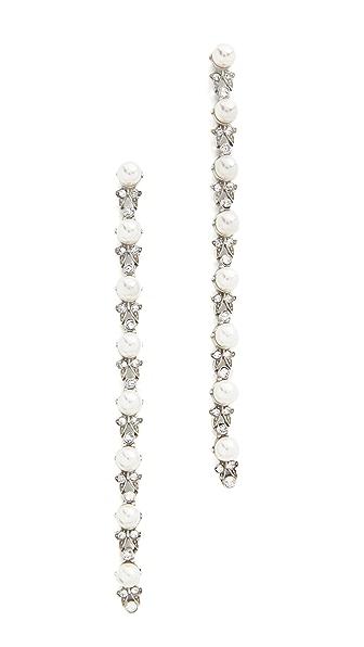 Ben-Amun Imitation Pearl Duster Earrings