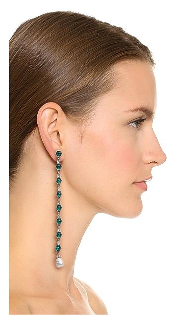 Ben-Amun Imitation Pearl Drop Duster Earrings