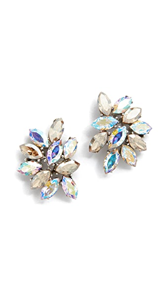 Ben-Amun Iridescent Cluster Earrings