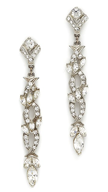 Ben-Amun Evening Linear Drop Earrings