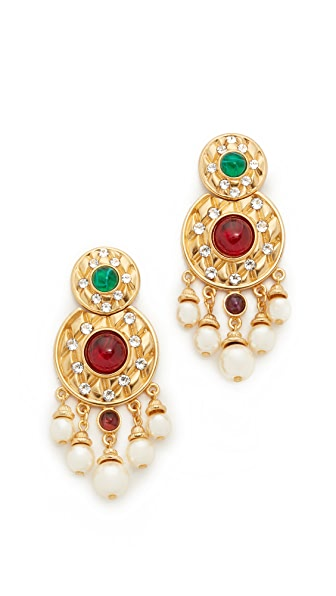 Ben-Amun Statement Chandelier Earrings