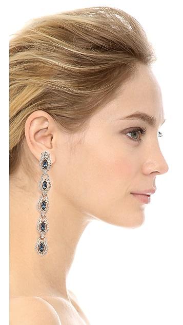 Ben-Amun Two Tone Linear Drop Earrings