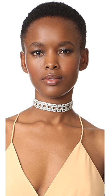Ben-Amun Link Crystal Choker Necklace