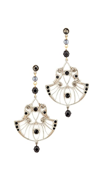 Ben-Amun Fan Drop Earrings