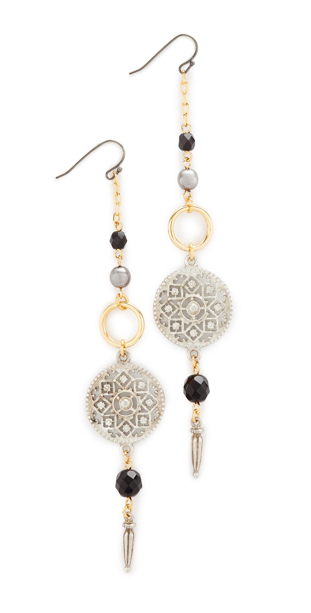 Circle Drop Fishook Earrings Ben-Amun