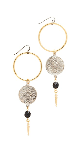 Ben-Amun Open Circle Drop Earrings
