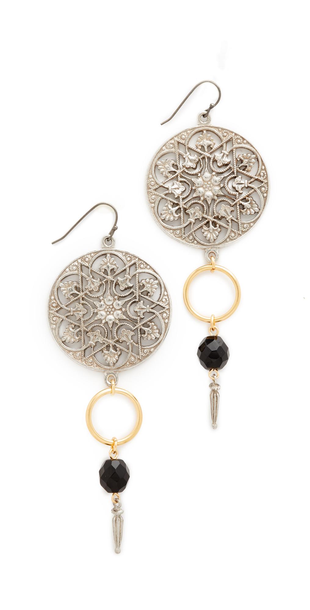 Round Top Drop Single Fishook Earrings Ben-Amun
