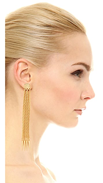 Ben-Amun Six Chain Drop Earrings