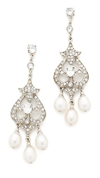 Ben-Amun Chandelier Post Earrings - Silver/Clear