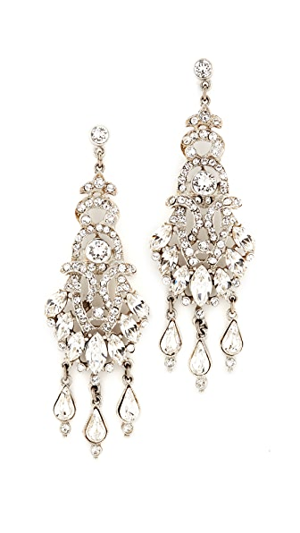 Ben-Amun Three Crystal Teardrop Earrings