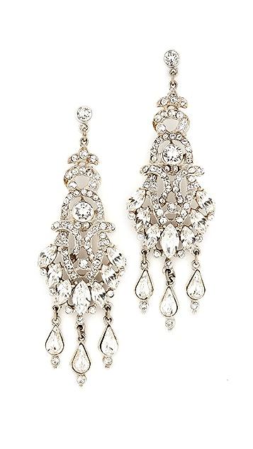 Ben-Amun Three Crystal Teardrop Earrings