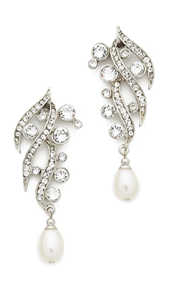 Ben-Amun Branch Crystal Drop Earrings - Silver/Clear