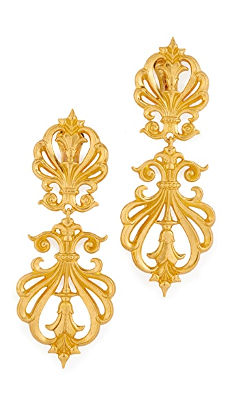 Ben-Amun Clip On Statement Earrings In Gold