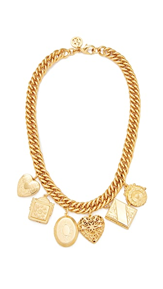 Ben-Amun Chain with 6 Pendants Necklace - Gold