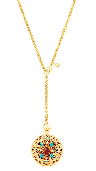 Ben-Amun Locket Necklace In Gold