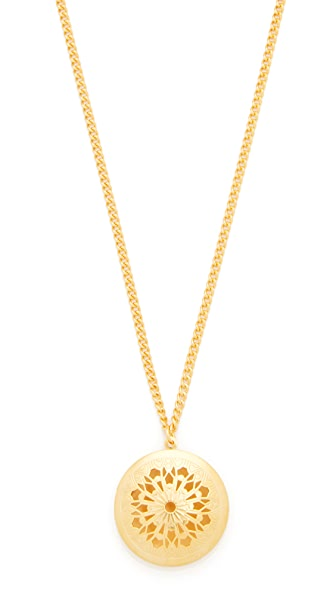 Ben-Amun Simple Gold Locket Necklace - Gold