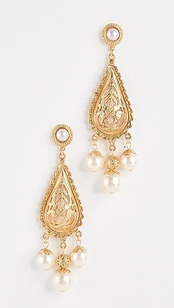 Ben-Amun Imitation Pearl Drop Earrings