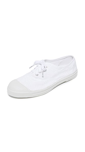 Bensimon Tennis Broderie Anglaise Lacet Sneakers - White
