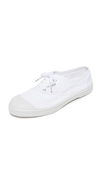 Bensimon Tennis Broderie Anglaise Lacet Sneakers