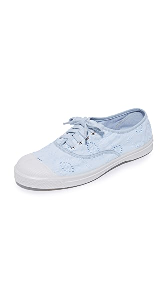 Bensimon Tennis Broderie Anglaise Sneakers - Light Blue