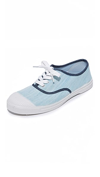 Bensimon Tennis Bleached Denim Sneakers - Blue